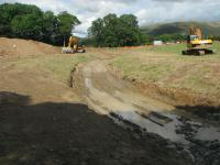 Construction of new channel as approach diversion point on old Whit Beck channel