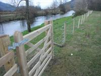Upper section post fencing