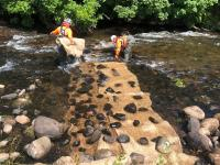 'Sedimats'- coir mats to capture any sediment released during works- installed throughout the downstream section of the river
