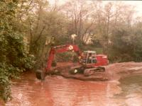 Dredging of Irt in 1973 (photograph courtesy of Gosforth Anglers)