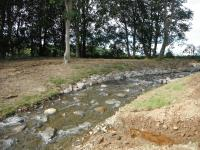 New Whit Beck channel immediately downstream diversion