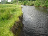 Rapidly eroding river banking