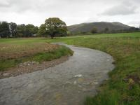 New Whit Beck channel in flood
