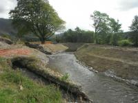 Temporary diversion of Old Whit Beck into new channel prior to whole channel being diverted